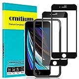"omitium Protector Pantalla para iPhone SE 2020, [2 Pack] iPhone 8/ iPhone 7 Cristal Templado [Cobertura máxima][ [Marco Instalación Fácil] Sin Burbujas Dureza 9H Vidrio Templado iPhone SE /8 / 7, 4,7"""