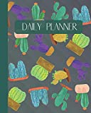 Daily Planner: Cactus And Succulents Cover 8x10' 120 Pages/120 Days Checklist Planning Undated Organizer & Journal - Christmas Gifts