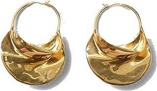 Irregular Metal Basket Large Hoop Earrings For Women Big White Enamel Statement Huggie Earrings Nickel Free wholesale Bijoux