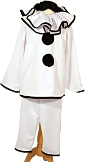 CL COSTUMES Dance-Stage Show-Halloween-Circus-Pierott Deluxe Black & White Clown - All Adult Sizes