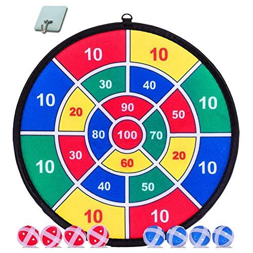 WWWL Juego de dardos para niños, 8 bolas adhesivas y 37 cm, juego de dardos seguro, regalo para niños