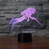 3D Tauch - sport Optische Illusions-Lampen Tolle 7 Farbwechsel Acryl berühren Tabelle...