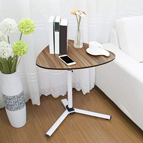FakeFace Computertisch mit Rollen Laptoptisch Höhenverstellbar Laptopständer Holz Drehbar PC-Tisch Ständer für iPad Tablete Mobilphone, Laptop Tisch für Bett Sofa Rollstuhl, HxBxT: 90 x 59 x 48 cm