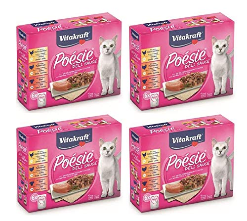 Vitakraft Cibo Umido für Katzen Poésie Deli Sauce Multipack Fleisch, 85 g