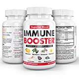 NanoLabs Herbal Immune Booster Support Supplement with Vitamin D & C, Zinc, Cordyceps, and Elderberry, Natural Multivitamin and Anti-Inflammatory Antioxidants, 60 Capsules