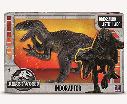 Dinossauro Indoraptor Jurassic World, Mimo Brinquedos, Preto