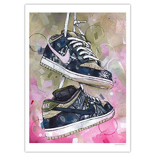 Nike SB Dunk Low Travis Scott Print (50x70cm) (50x70cm) *ungerahmt