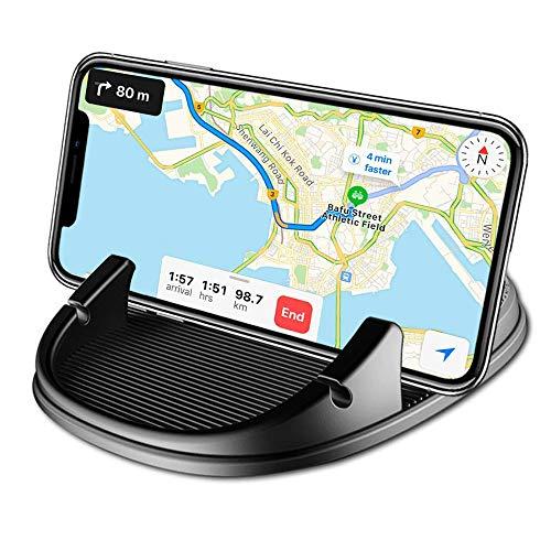 Freall de voiture support pour téléphone portable,antidérapant Pad Tapis de tableau de bord Tableau de bord support GPS téléphone Berceaux de fixation pour iPhone, Samsung,3.5–17.8 cm Smartphone(Noir)