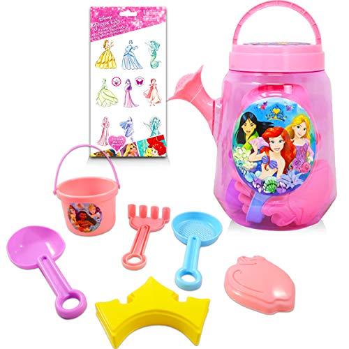 Disney Princess Gardening Set Princess Outdoor Toys Bundle  7 Pc Disney Princess Playset with Princess Stickers Princess Sandbox Toys