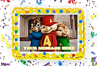 Alvin And The Chipmunks Cake Topper Edible Image Personalized Cupcakes Frosting Sugar Sheet (2
