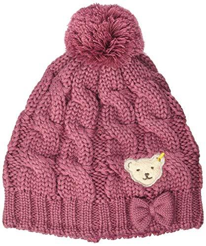 Steiff Mädchen mit süßer Teddybärapplikation Mütze, Malaga, 051
