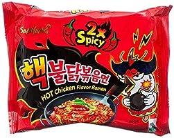 Samyang dubbele 2x Hot Chicken Ramen Instantnoedels zeer scherp 5x140g