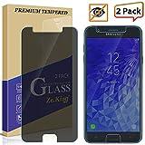 Zeking [2-Pack] Samsung Galaxy J7 2018 Privacy Anti-Spy Glass Screen Protector 9H Hardness [Anti Scratch][Anti-Fingerprint] Bubble Free