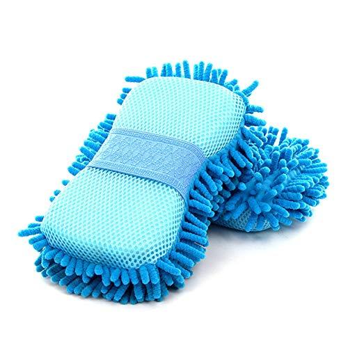 YUIO® Cepillo de limpieza Herramientas Esponja de microfibra Producto Paño Toalla Lavado Guantes Suministro Súper absorción de agua Fuerte detergencia (azul cielo)