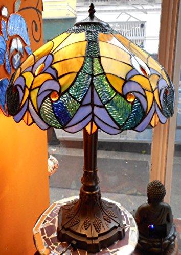 Tischlampe 'Jugendstil' Tiffanystil Glas