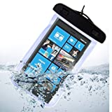 Waterproof Pouch Case Dry Bag for Nokia Lumia 929, Nokia Lumia 1020, Nokia Lumia 630, Nokia Lumia XL, LG G2, LG G3, Motorola Moto x, Moto g (Blue)