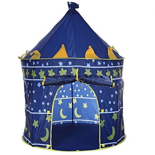 HMILYDYK Tienda de campaña para niños de interior y exterior, juguete de jardín portátil, casa de juegos del príncipe castillo plegable tiendas para niños niñas bebé niño pequeño regalo de cumpleaños