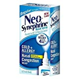 Neo-Synephrine Nasal Decongestant Spray Regular Strength 0.50 oz (PACK OF 3)
