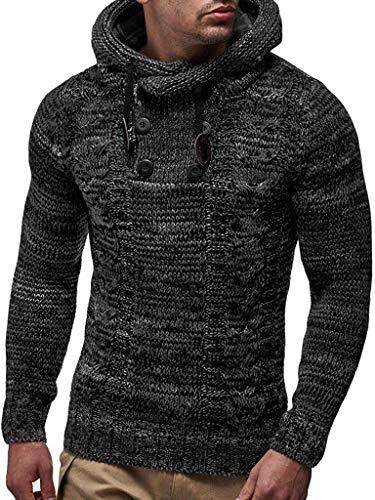COOFANDY Men's Cotton Pullover Hoodies High Neck Sweater Halloween Christmas