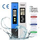 LAOYE PH Mètre et TDS & EC & Thermomètre, Testeur PH de qualité de l'eau 4 en 1...
