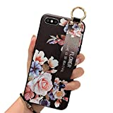 UDIKEFO iPhone 6 Plus Case/iPhone 6s Plus Silicone Case/Hand Strap Phone Holder Case/Wrist Strap Band with Wristband Kickstand Cell Phone Cover for iPhone 6Plus & iPhone 6sPlus 5.5 inch