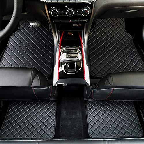 Mats de Cuero Universal alfombras de Cuero con Estilo de automóvil Accesorios Interiores de automóviles Mats Piso Alfombra (Color Name : All Black)