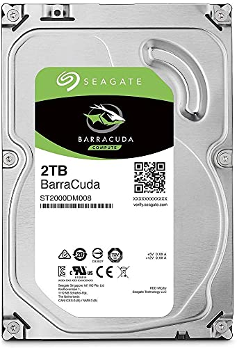 "Seagate Barracuda ST2000DM008 - Disco Duro Interno (2 TB, SATA, 6 GB/s, caché de 256 MB, 3,5"")"