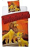 Le Roi Lion Disney - Parure de Lit Enfant Simba - Housse de Couette