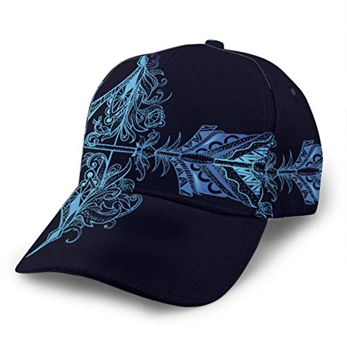 Baseball Cap Arrow Feather Bow Archery Graphic Patterns Adjustable Unisex Baseball Cap Trucker Hat Fits Men Women Hat