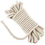 Cordón de macramé de 10 mm, resistente cuerda de algodón trenzado para colgar en la pared, perchas de plantas, tejer, manualidades