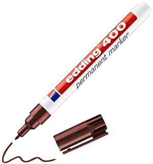 edding Edding 400 Permanent marker navulbaar, 1 mm, bruin