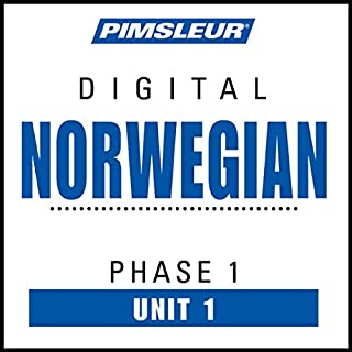 Norwegian Phase 1, Unit 01     Learn to Speak and Understand Norwegian with Pimsleur Language Programs              By:                                                                                                                                 Pimsleur                               Narrated by:                                                                                                                                 Pimsleur                      Length: 43 mins     19 ratings     Overall 4.1