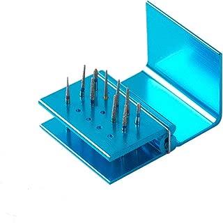 Easyinsmile® Dental Handpiece Tips Holder Sterilizing Diamond Burs blue 15/30 holes (15 holes)