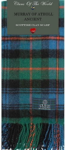 I Luv Ltd Murray of Atholl Ancient Tartan Clan Scarf 100% Soft Lambswool