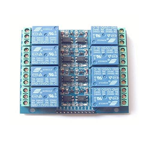daorier Relais-Modul mit Optokoppler für Arduino Raspberry Pi, 8-Kanal DC 12V 10A Haushalt Intelligente Steuerung