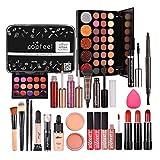 Full Makeup Kit For Women, All-in-One Makeup Set, Makeup Gift Set for Girls Makeup Essential Starter Kit Includes Lip Gloss Blush Brush Eyeshadow Foundation