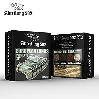 ヨーロッパ地 ピグメントセット[ABT408] EUROPEAN LANDS PIGMENTS SET