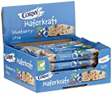 CORNY Haferkraft Blueberry-Chia, weicher Blaubeer-Chiasamen-Haferriegel im 12er Pack (12 x 65 g Riegel)