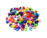 HONBAY 200pcs Mix Color 8mm Foot Ring Bands Bird...