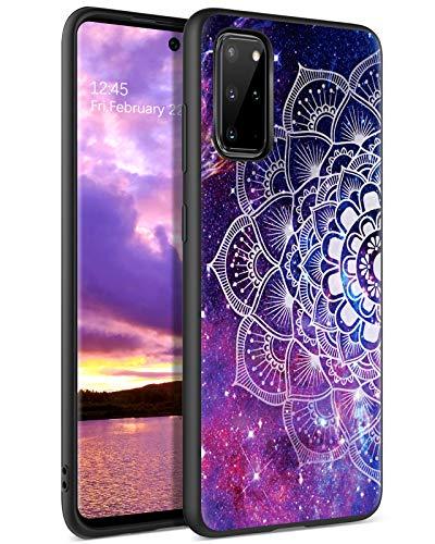 YINLAI Samsung Galaxy S20 Plus Hülle,Handyhülle Samsung S20 Plus Lila Mandala Nebula Muster TPU Bumper PC Schale rutschfeste Fallschutz Kratzfest Schutzhülle für Samsung Galaxy S20 Plus/S20+ 6,7 Zoll