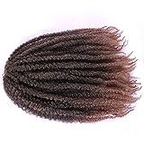 Afro Kinky Marley trenzas pelo a granel suave ganchillo trenzas extensiones de pelo...
