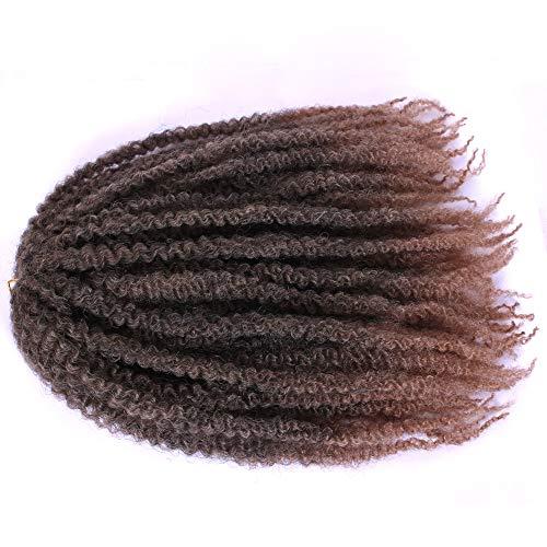 Kinky Twist Hair Crochet Zöpfe Ombre Marley Braid Haar 18inch Senegalese Curly Häkel Synthetische Flechten Haar Bulk Twist Crochet Zöpfe 60 Stränge / Pack ...