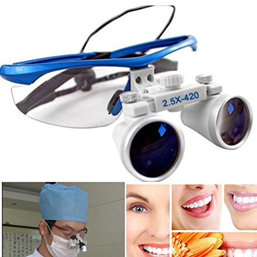 BoNew-Oral 2.5X420mm Dental Brillenlupe Lupenbrille Lupe Glasses Surgical Binocular Loupes