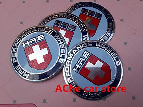 4pcs 65mm HRE car emblem Modified Wheel Center Hub Caps wheel Badge covers sticker Accessories