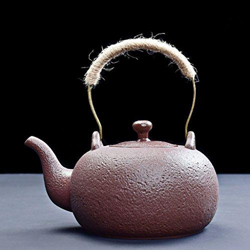 YONGJUNshuihu Yongjun Théière en céramique pour la santé – Bouilloire Bouilloire Théière, Petit Filtre pour thé pour Utilisation Domestique Bouilloire de thé 1500 ML Marron