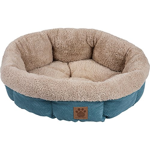 Precision Pet SnooZZy Mod Chic Round Shearling Bed, Teal