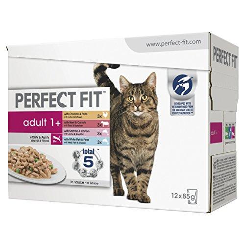 Perfect Fit, Cat Pouches Adulti 1 + Misti, 85 g, Confezione...