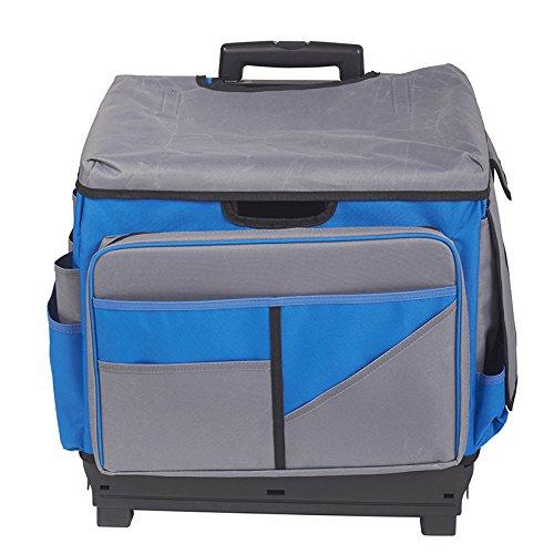 ECR4Kids - ELR-0550B-BL MemoryStor Universal Rolling Cart and Organizer Bag Set, Blue