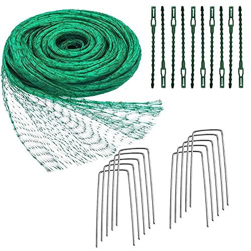 Rete Anti Uccelli, 4 * 10M Rete Giardino Verde, Rete Protezione Uccelli Rete per Orto Rete Piante Rete Giardinaggio, Rete Anti Uccelli Maglie Grandi