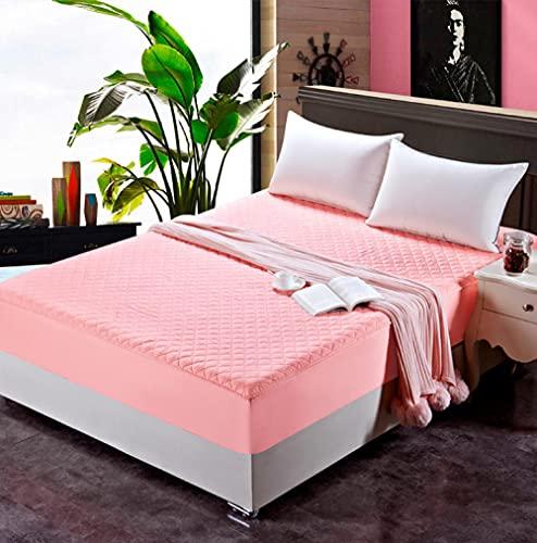 XGguo Protector de colchón - Protector de colchón antialérgico Sábana de Hotel de una Sola Pieza de algodón espesante-Jade Color_90 * 200cm